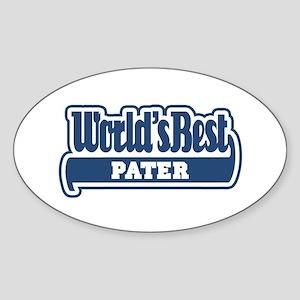 WB Dad [Latin] Oval Sticker